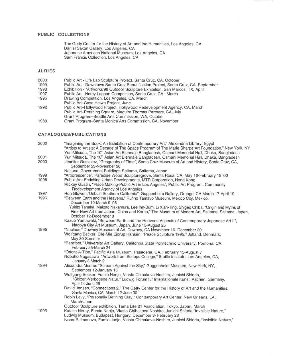 Nobuho Nagasawa's resume, pg 4